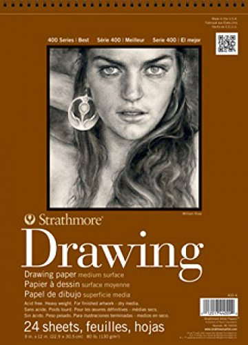 Strathmore 400-3 STR-400-3 24 Sheet No.80 Drawing Pad, 8 by 10', 8'x10', 8 X 10 Inches