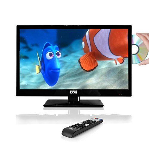 Pyle 21.5' LED TV Monitor | 1080p - Multimedia Disc Player - Ultra HD - Audio Streaming - Stereo Speakers, Wall Mount | PTVDLED22 model