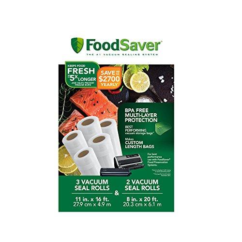 FoodSaver 8' and 11' Vacuum Seal Rolls Multipack | Make Custom-Sized BPA-Free Vacuum Sealer Bags