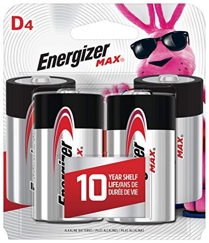 Energizer Max D Batteries, Premium Alkaline, 4 Ct