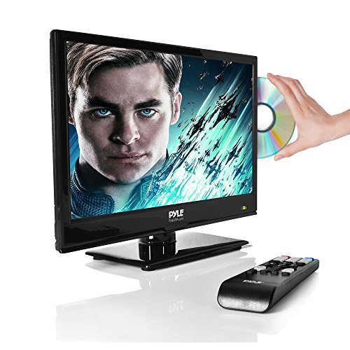 Upgraded Premium 15.6' 1080p LED TV, Multimedia Disc Player, Ultra HD TV, LED HiRes Widescreen Monitor w/ HDMI Cable RCA Input, LED TV Monitor, Audio Streaming, Mac PC, Stereo Speakers, Wall Mount