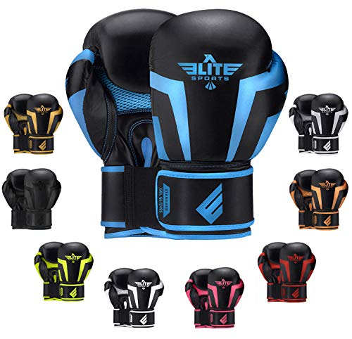 2020 Pro Boxing Gloves for Men & Women, Boxing Training Gloves, Kickboxing Gloves, Sparring Gloves, Heavy Bag Gloves for Boxing, Kickboxing, Muay Thai, MMA (Blue 12 Oz)