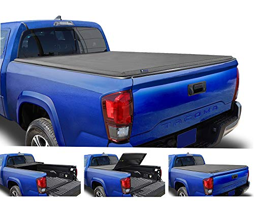 Tyger Auto T3 Soft Tri-Fold Truck Bed Tonneau Cover for 2005-2015 Toyota Tacoma Fleetside 6' Bed TG-BC3T1031