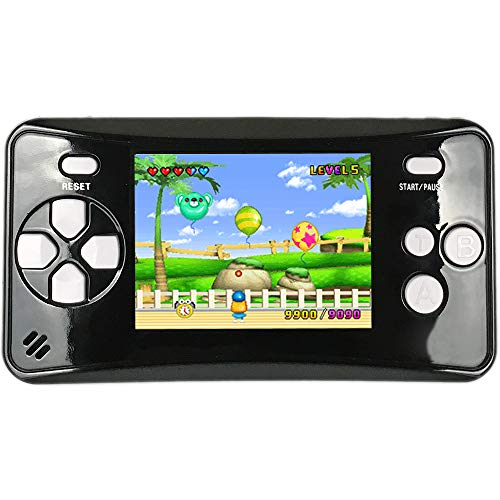 HigoKids Portable Handheld Games for Kids 2.5' LCD Screen Game Console TV Output Arcade Gaming Player System Built in 182 Classic Retro Video Games Birthday for Your Boys Girls (Black)