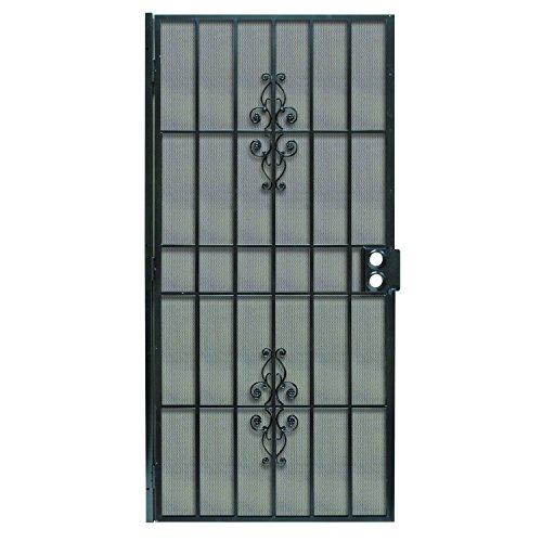 Prime-Line Products 3853BK3068-WF Flagstaff Steel Security Door, 36' x 80', Black