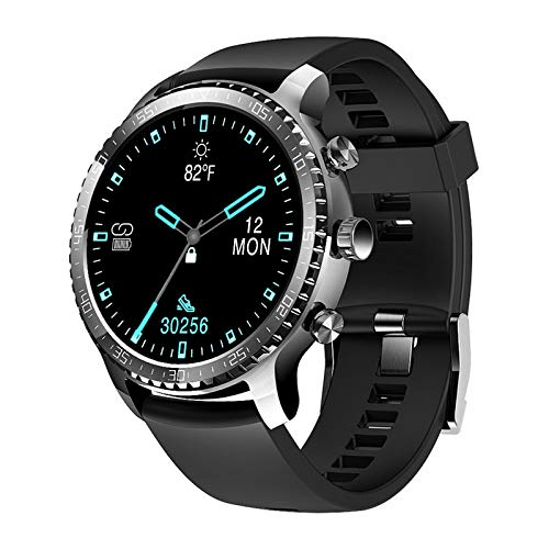 Tinwoo Smart Watch for Men, Support Wireless Charging, Bluetooth Fitness Tracker with Heart Rate Monitor, 2020 Version Smartwatch for Android Phones Compatible with iPhone Samsung