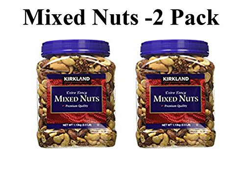Kirkland Signature Extra Fancy Mixed Nuts: 2 Jars of 40 Oz