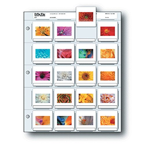 Printfile Top Load Holds 20 35mm Slides 100 Pack - Printfile 2X220B100
