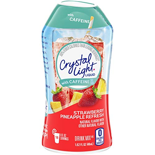 Crystal Light Liquid Strawberry Pineapple Refresh Energy Drink Mix with Caffeine (1.62 oz Bottle)