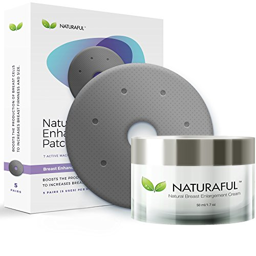 NEW NATURAFUL - Breast Enhancement Cream & Enhancement Patch BUNDLE - Natural Breast Enlargement, Firming and Lifting | Trusted by Over 100,000 Users & Includes Handbook | $143 Value Bundle