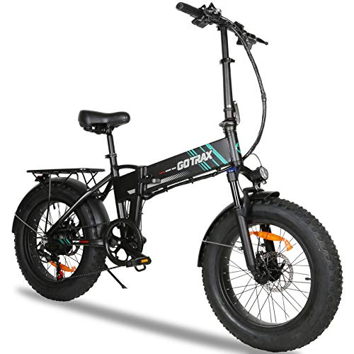 Gotrax EBE4 Fat Tire Electric Bike 20' - 20MPH & 50 Mile Range - 350W Motor - 7 Speed Folding E-Bike