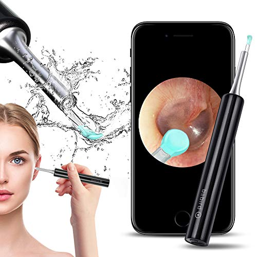 Ear Wax Removal Tool Earwax Remover Endoscope - Wiscky Professional Ear Cleaner Camera 1080p FHD Wireless Otoscope with 6 LED Lights Ear Scope Wax Cleaning Kits for iPhone, iPad & Android Smart Phones