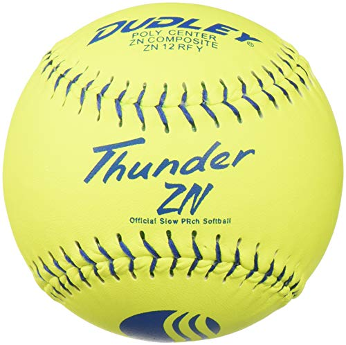 Dudley USSSA Thunder ZN Slowpitch Classic M Stamp Softball - 12 pack