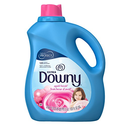 Downy Ultra Liquid Fabric Conditioner (Fabric Softener), April Fresh, 120 Loads 103 fl oz