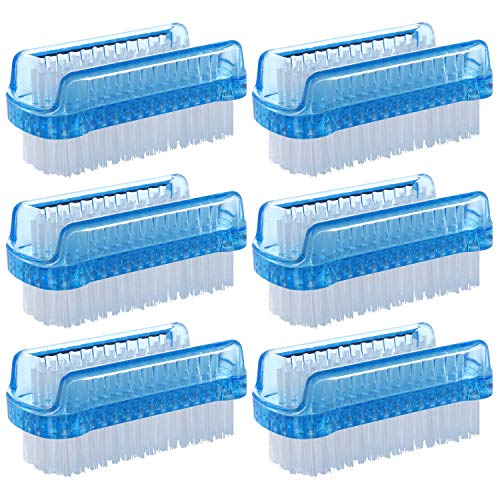 BTYMS 6 Pcs Dual Sided Nail Brush Fingernail Scrub Cleaning Brushes for Toes and Nails Cleaner Hand Scrubbing Cleaning Brushes