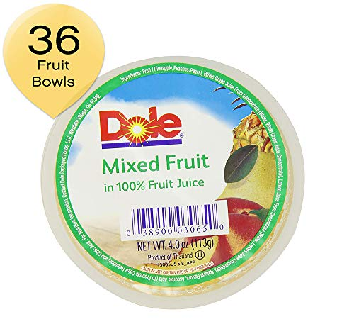 DOLE FRUIT BOWLS, Dole Mixed Fruit , 4-Ounce Cups (Pack of 36)