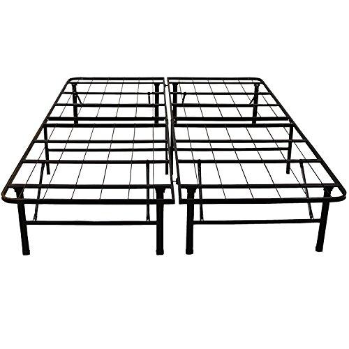 Classic Brands Hercules Heavy-Duty 14-Inch Platform Metal Bed Frame | Mattress Foundation, Full