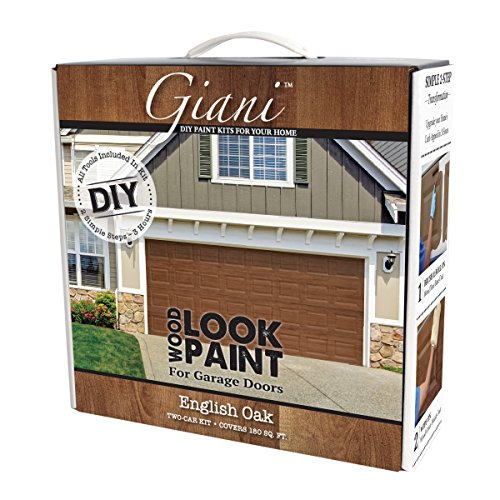 Giani Wood Look Garage Door Paint Kit, 2 Car, English Oak