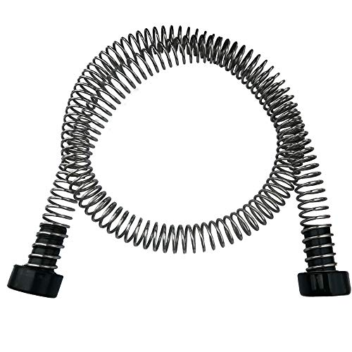 CARAPEAK Heavy Duty Stainless Steel Zipline Spring Brake Extra Long 6.3 FT Fits Cable up to 1/2', Kids Backyard Zip Line Braking System/Stop/Stopper for 3/16 1/4 5/16 3/8 1/2 inch Wire