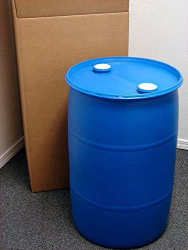 30 Gallon Drum; Emergency Water Storage Barrel, Blue - New! - Boxed! Water Container