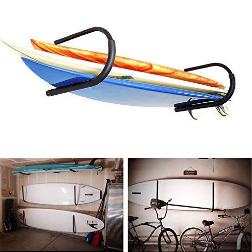 FDB SUP U Kayak Snowboard Surfboard Paddleboard Wakeboard Wall Cradle Mount Rack Canoe Hanging Wall Frame Canoeing Aquaplane Skis Indoor Storage Ceiling Rack (1 Pairs)