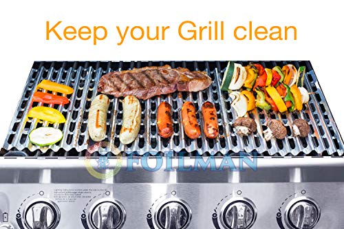 Clean Grill BBQ Disposable Aluminum Liners   12 x 20 inch/Disposable Grill Grates - Pack Of 12
