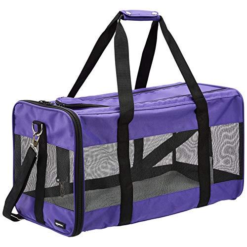 AmazonBasics Soft-Sided Pet Travel Carrier - Purple, Extra Large