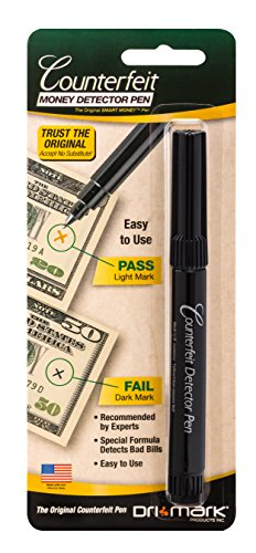 Dri-Mark Counterfeit Money Detector Pen for Use with U.S. Currency