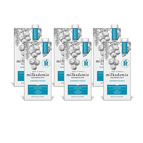 milkadamia Macadamia Milk, Unsweetened - 32 Oz, 6 Count, 32 Fl Oz (Pack of 6)