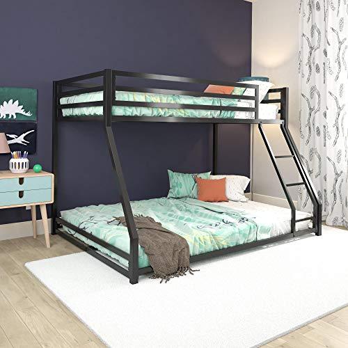 DHP Miles Metal Bunk Bed, Black, Twin/Full