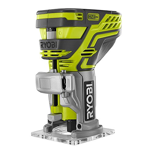 Ryobi P601 One+ 18V Lithium Ion Cordless Fixed Base Trim Router (Battery Not Included  Tool Only)