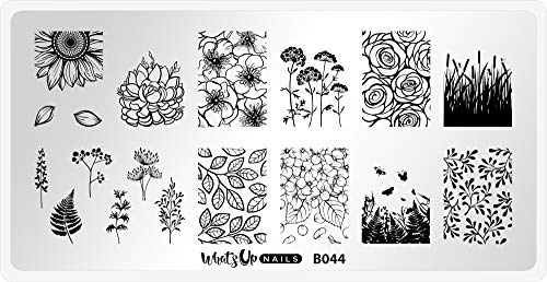 Whats Up Nails - B044 From Ground Comes Life Stamping Plate for Nail Art Design