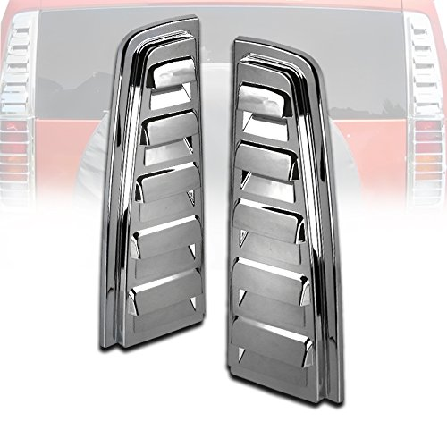 ZMAUTOPARTS Rear Upper Tail Light Lamp Vent Cover Guard Trim Chrome For 2003-2009 Hummer H2