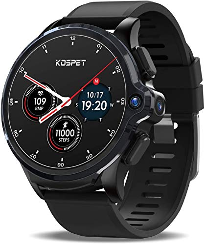 KOSPET Prime 4G LTE Smartwatch,3GB RAM+32GB ROM WiFi GPS Smart Watch Phone with 1.6' Display,1260mAh Battery,Face Unlock,Dual Camera,Full Android Smart Watch