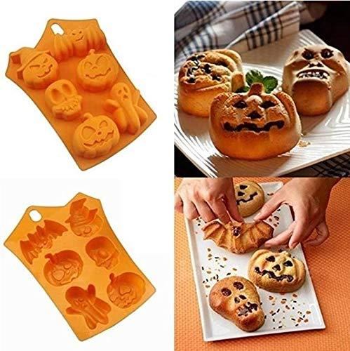 VARWANEO Halloween Candy Cake Making Mold Creative Silicone Pumpkin Cake Mold Baking Tools