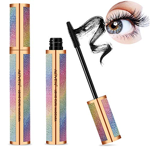 4D Silk Fiber Lash Mascara, Natural Thickening and Lengthening Mascara Lasting All Day, Waterproof Smudge-Proof & Long Lasting Charming Eye Makeup