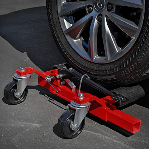 Stark Set of (2) Truck Car Wheel Moving Dolly Ratchet Type Auto Tire Lift Wheel Dolly Car Skates Vehicle Positioning Hydraulic Tire