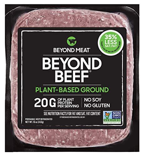 Beyond Meat Ground Beef- Plant Based Meat Alternative, Heat & Eat - Frozen, 16 Ounce Package