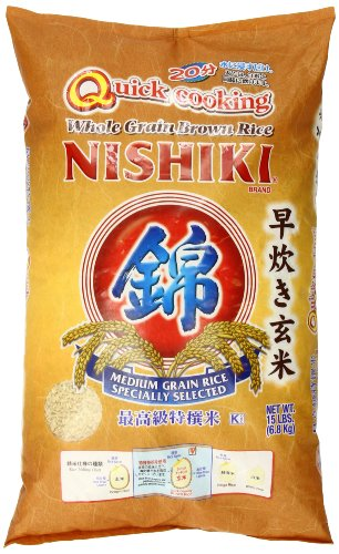 Nishiki Quick Cooking Brown Rice, 15-Pound