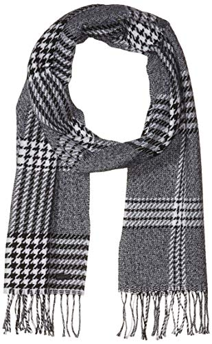 Lacoste Mens Chic Scarf Cold Weather Scarf, Flour/Black, One Size