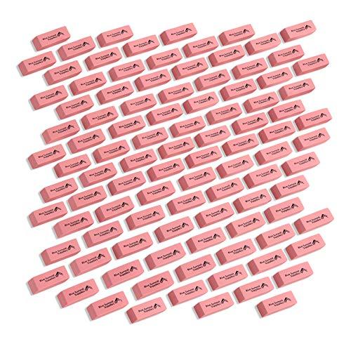 Blue Summit Supplies Pink Erasers Bulk, Classroom Erasers for Kids Pink, Bulk Pink Erasers, Pencil Erasers for School, Pink School Erasers, 100 pack