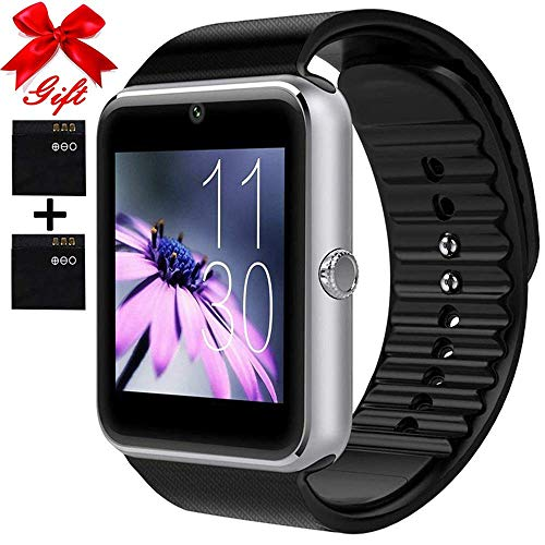 Smart Watch for Android Phones with SIM Card Slot Camera, Bluetooth Watch Phone Touchscreen Compatible iOS Phones, Smart Fitness Watch with Sleep Monitor sedentary Reminder for Women