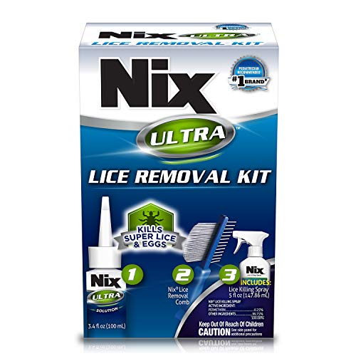 Nix Ultra Lice Removal Kit | Kills Super Lice & Eggs | Includes Lice Removal Comb and Control Spray