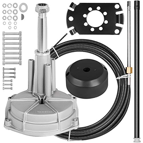 Mophorn Outboard Steering Kit 15' Outboard Rotary Steering Kit 15 Feet for Boats Steering System