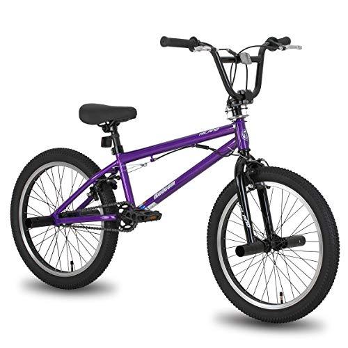 Hiland 20 Inch Kids BMX Bike for Boys Girls Teenager Freestyle Bicycle Purple