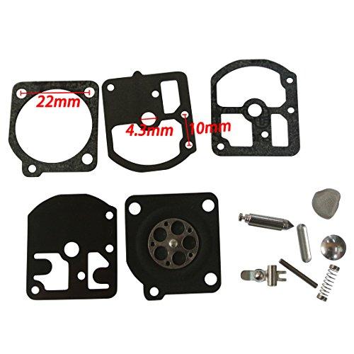 JRL Carburetor Diaphragm Repair Set Fit ZAMA C1S-S1 C1S-Z1 C1S-H4 C1S-H8 Rep RB-7
