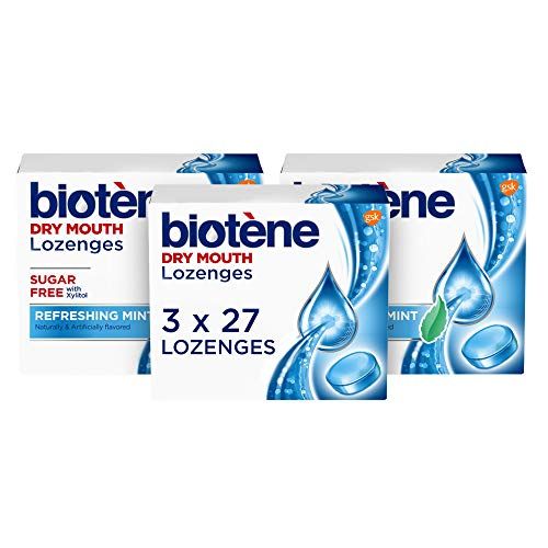 Biotene Dry Mouth Lozenges, Refreshing Mint, 81 Count