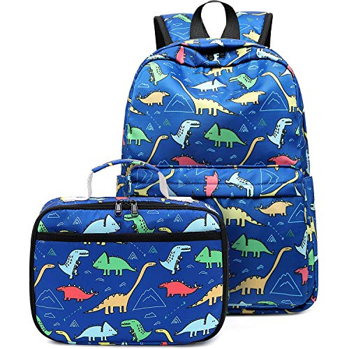Preschool Backpack for Kids Girls Toddler Backpack Kindergarten School Bookbags (Y025-2 Dinosaur-Dark Blue)