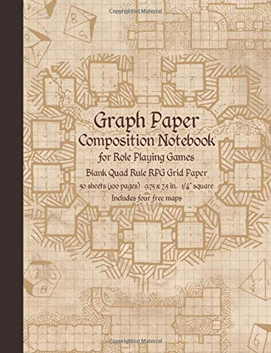 Graph Paper Composition Notebook for Role Playing Games: Blank Quad Rule RPG Grid Paper (Dungeon Map RPG Game Series)