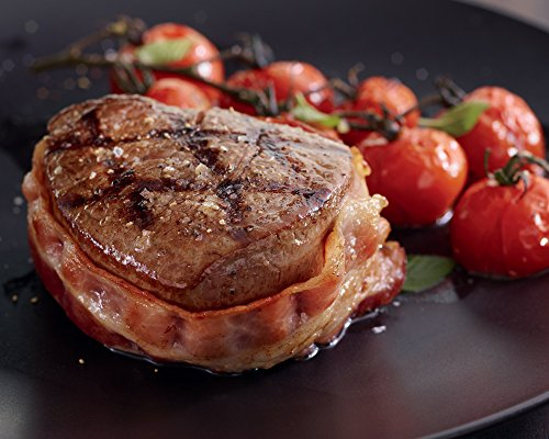 Super Trimmed Filet Mignon with Hickory Bacon, 12 count, 4 oz each from Kansas City Steaks